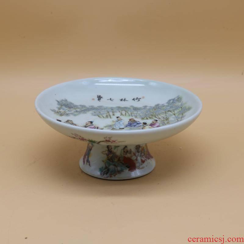 Jingdezhen kilns pastel best fruit bowl, home furnishing articles antique imitation antique collectables - autograph