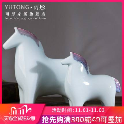 Horse furnishing articles ceramics handicraft sitting room porch ark, office desktop home decoration