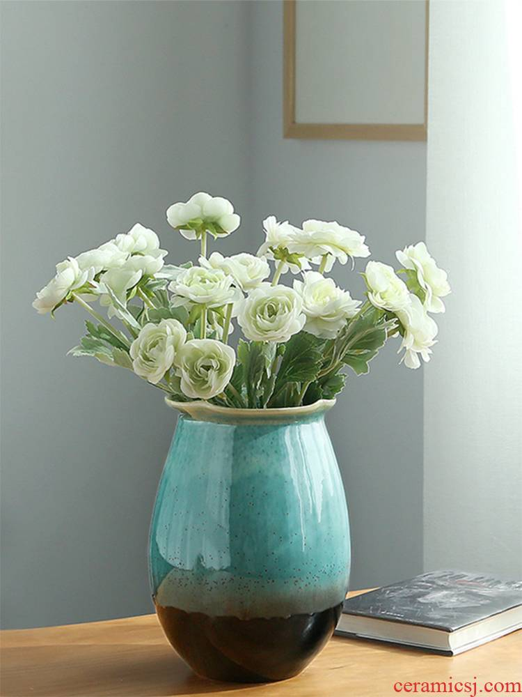 Jingdezhen ceramics vase I and contracted sitting room porch dried flower arranging flowers adornment of Chinese style household furnishing articles