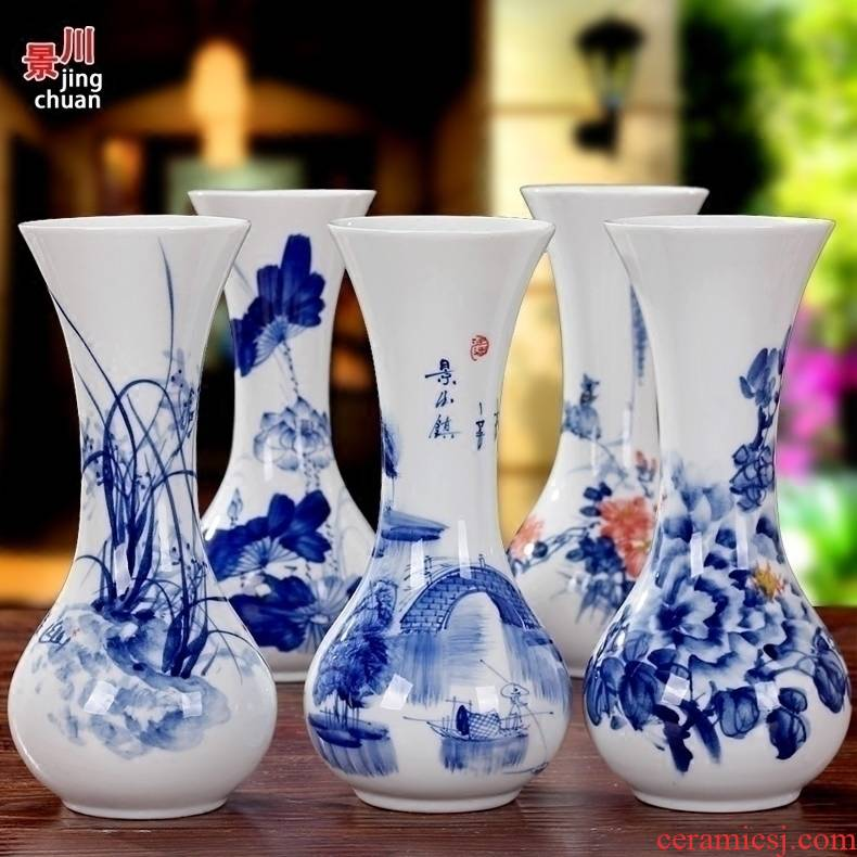 Floret bottle hand - made flowers flower porcelain of jingdezhen ceramics, household act the role ofing is tasted sitting room adornment mesa furnishing articles