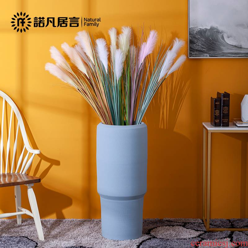 Ground ceramic vases, I and contracted retro nostalgia sitting room flower arranging place the dried flower implement creative decoration decoration