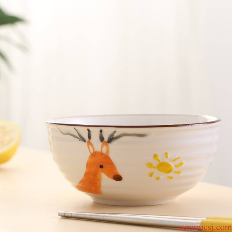 Little baby last come unstuck children jobs household express to use creative ceramic bowl cartoon character eat bowl individual dishes