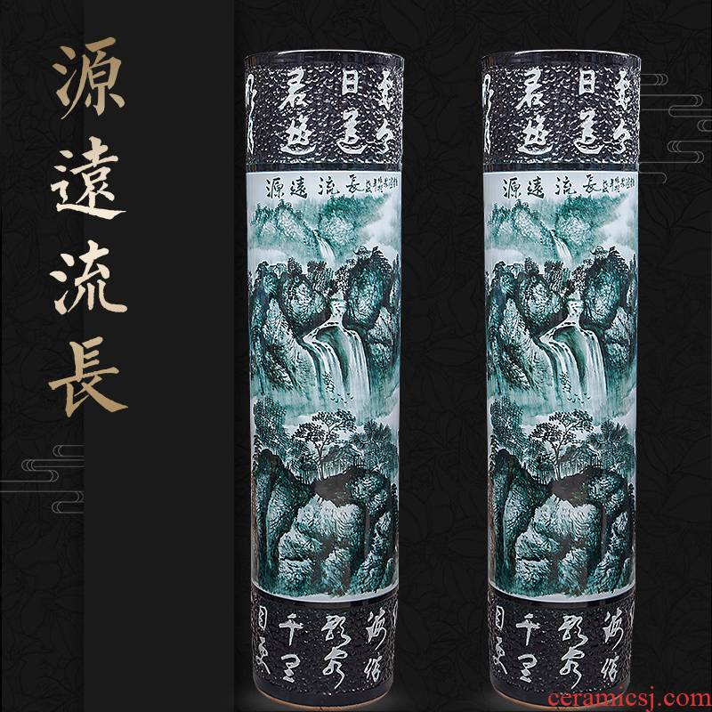 Jingdezhen ceramics hand - made quiver furnishing articles of Chinese style of large vase sitting room adornment hotel opening gifts