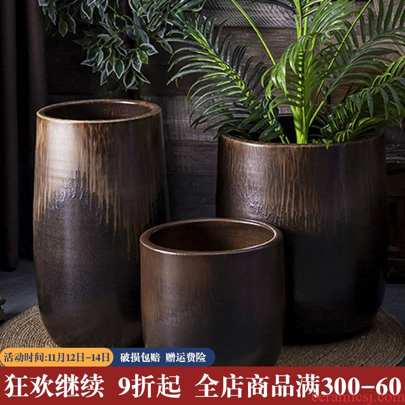 Wide expressions using ground flowerpot ceramic household creative green plant adornment scene in the sitting room decorate restoring ancient ways is rich tree furnishing articles