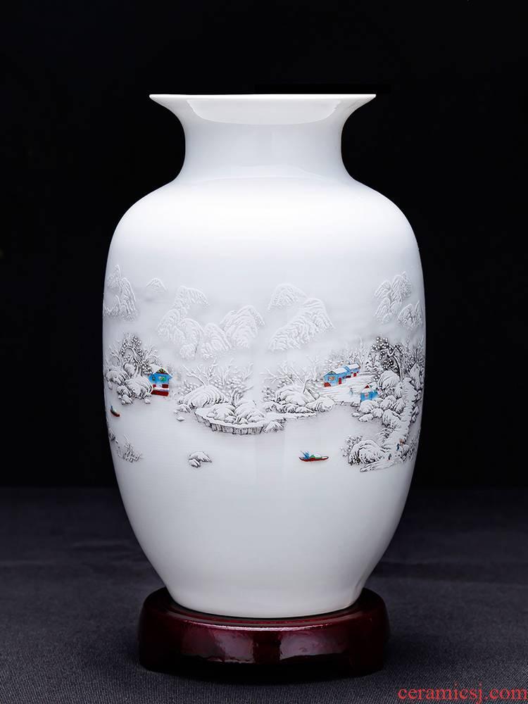 Jingdezhen ceramics floret bottle of dry flower adornment flower arranging Chinese style household living room TV ark, handicraft furnishing articles