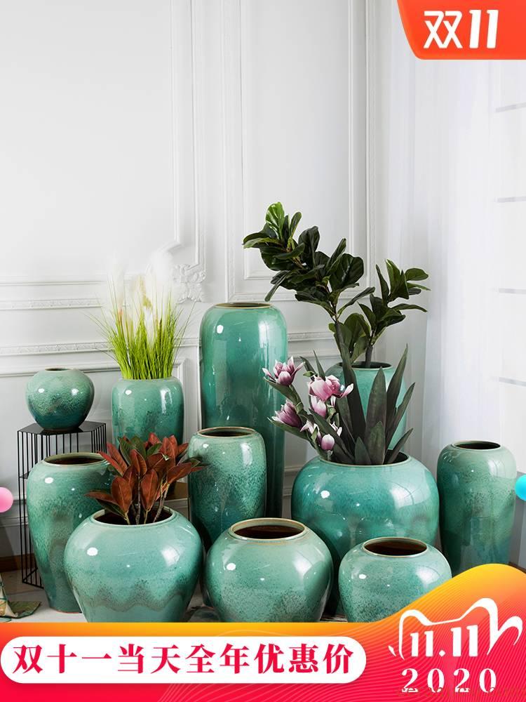 Jingdezhen ceramic vase of large sitting room porch flower flower POTS hotel European - style decorative home furnishing articles