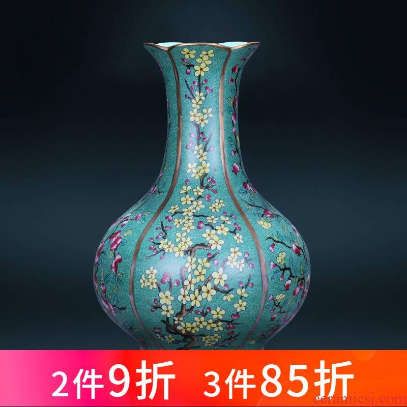 Jingdezhen ceramics powder enamel vase flower arranging archaize sitting room place, a new Chinese style restoring ancient ways porcelain home decoration