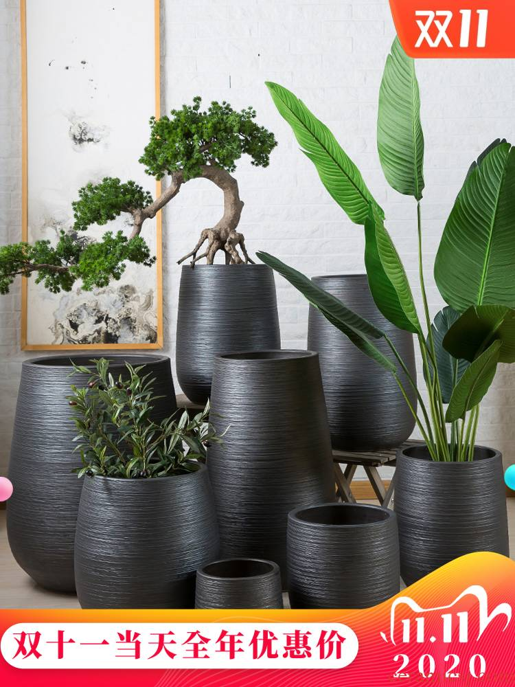 Thickening flowerpot jingdezhen balcony household ceramics creative move large planting orchid hotel garden ornaments