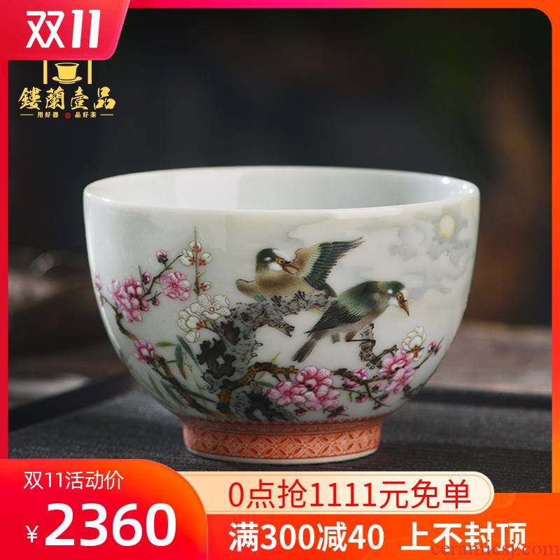 Jingdezhen ceramics all hand - made pastel beaming master cup tea cup personal single cup tea cups