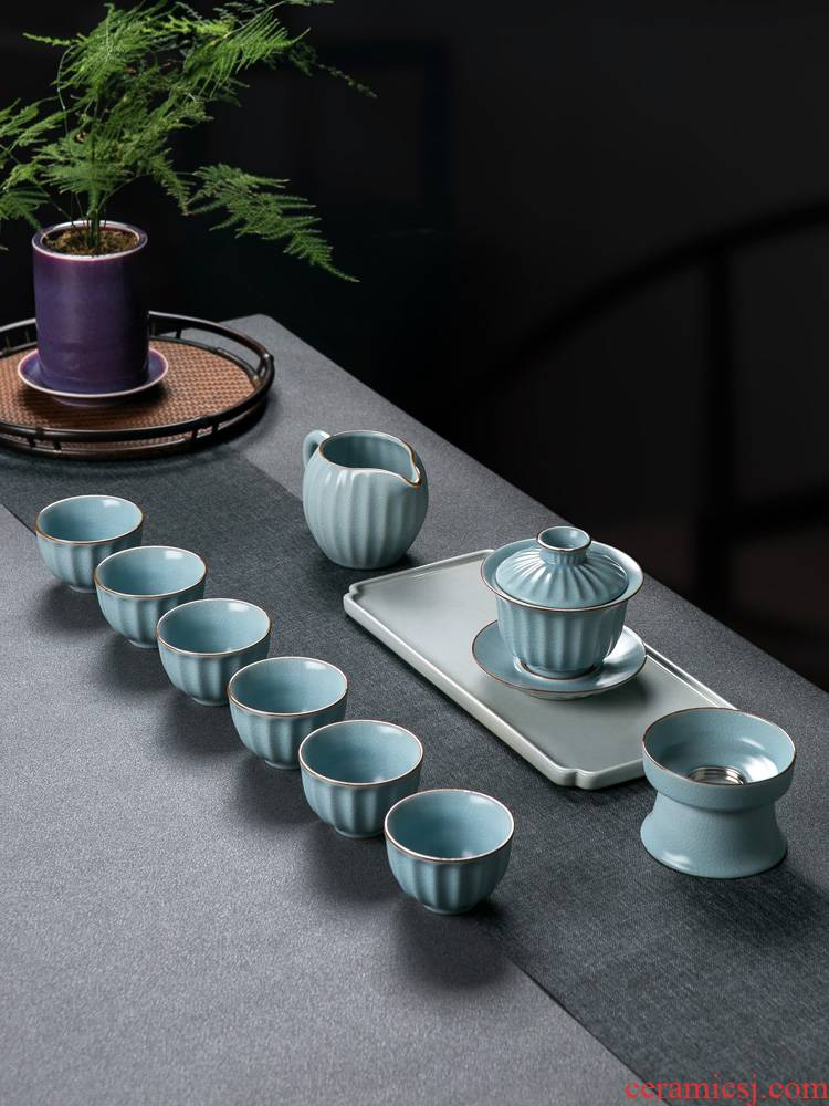 Jingdezhen tea set home sitting room your up ceramic tureen tea, high - grade gift boxes kung fu tea set