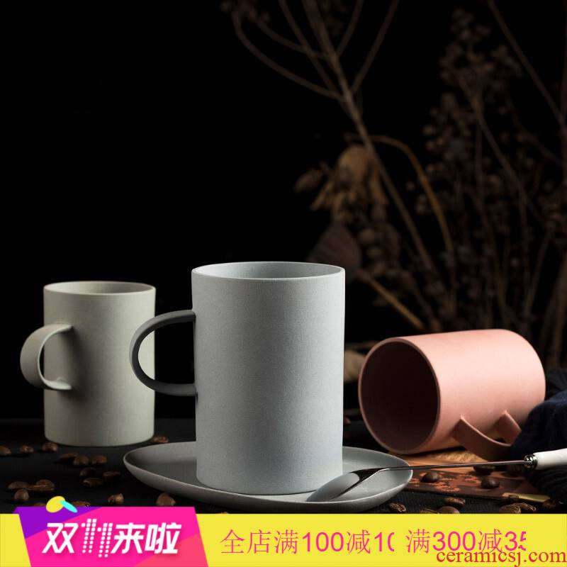 Poly real scene Nordic coffee cup contracted breakfast milk cup glass ceramic office mark cup men 's and women' s cup of tea