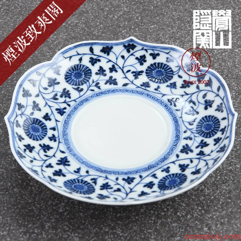Those hidden up porcelain jingdezhen sleep mountain has gived the money around branches by grain kwai dish of tea tray expressions using sweet