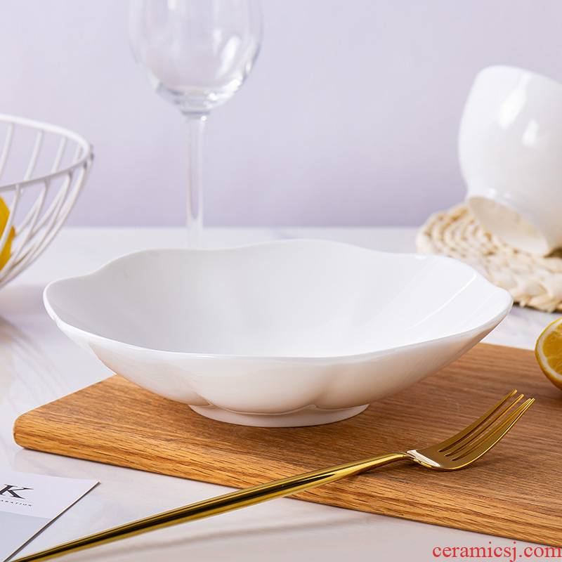 Jingdezhen porcelain ipads lace creative web celebrity light and decoration plate ins ceramic dish dish household white plate