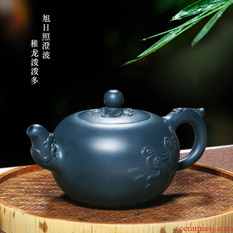 Shadow at yixing pure manual famous it undressed ore green home kung fu teapot tea HM