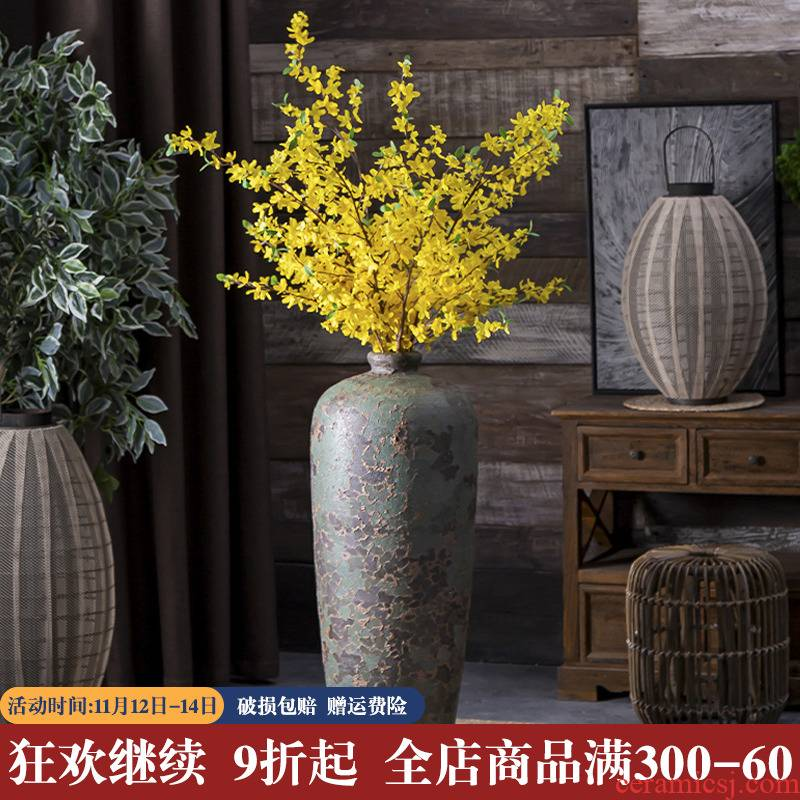 Jingdezhen ceramic floor big vase small - bore mei bottles of archaize do old sitting room adornment porcelain opening furnishing articles