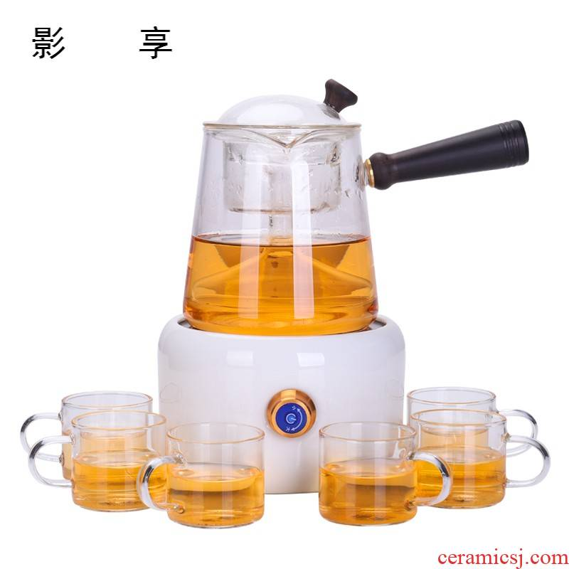 Shadow at boiling tea ware glass steam pot double tank household cooking electric teapot TaoLu kung fu tea set