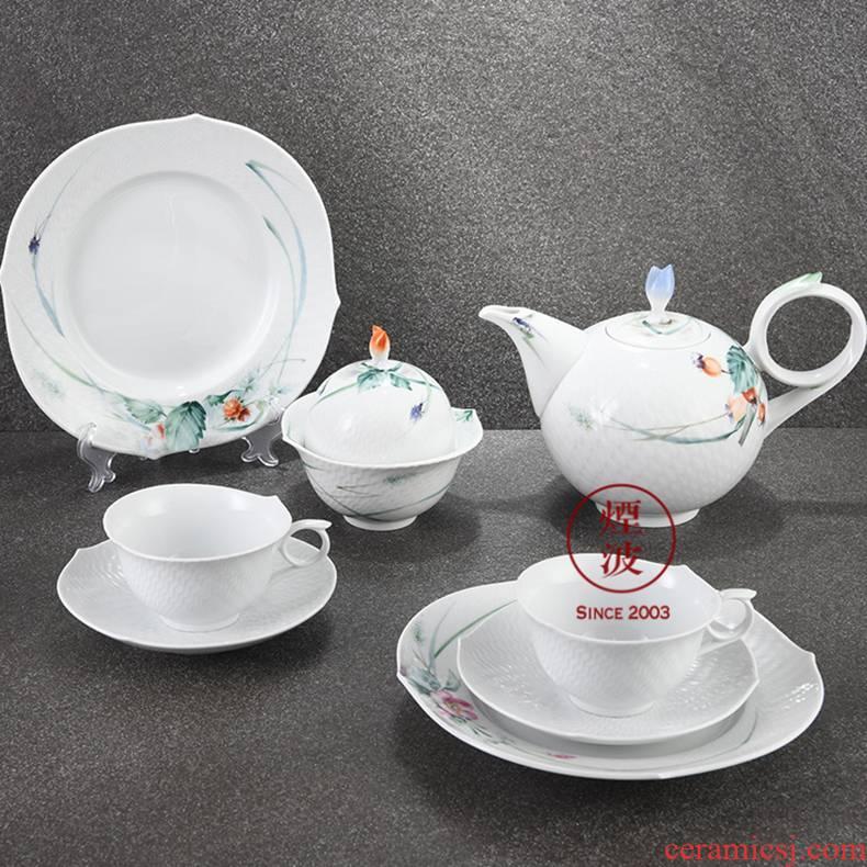 German mason mason meisen porcelain magic wave woodland series coffee cups and saucers set of coffee set