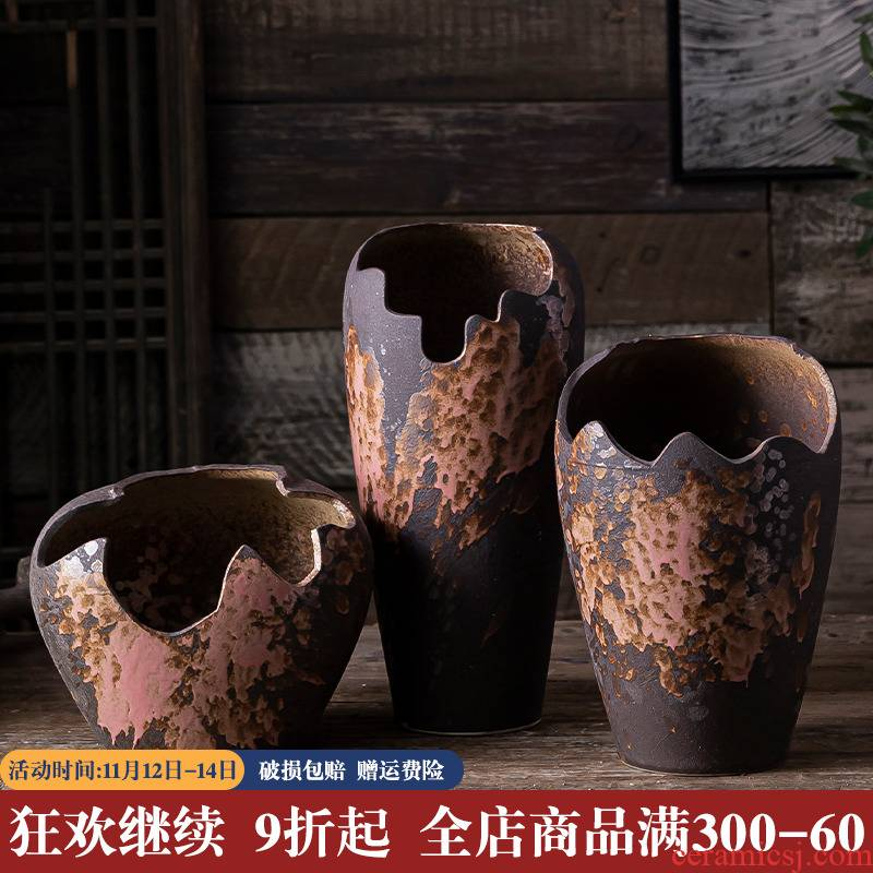 More special offer a clearance breathable creative meat meat meat flowerpot ceramics plant of large diameter mage old running the basin set combination