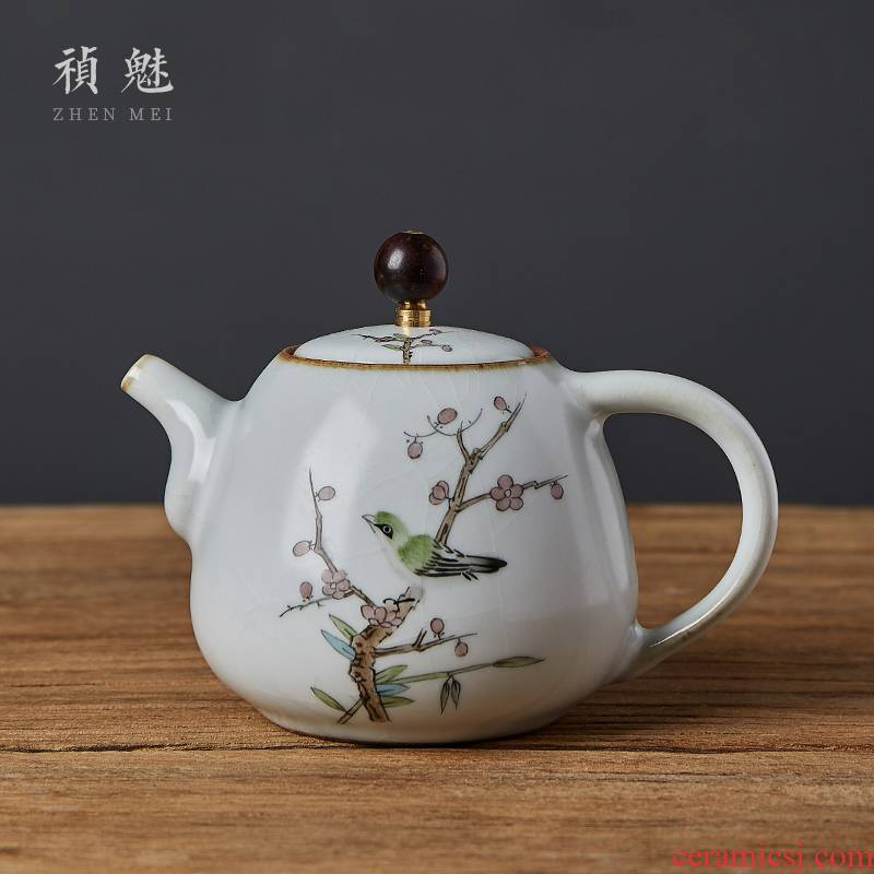 Shot incarnate your up hand - made open piece of jingdezhen ceramic teapot kung fu tea set for its ehrs household filter teapot single pot