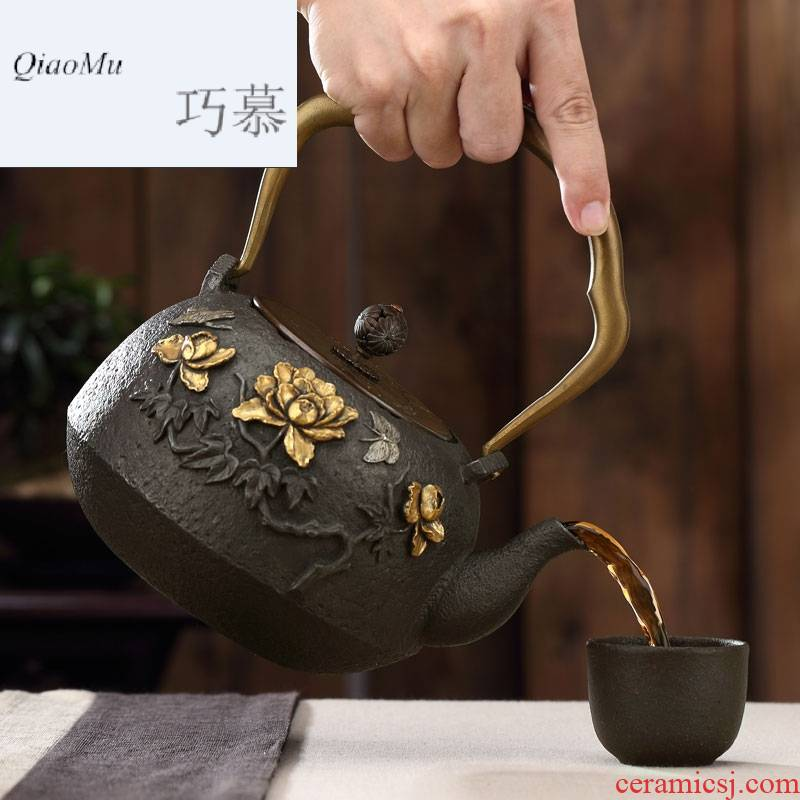 Qiao mu regimen brother make tea pot cast iron pot of boiled tea machine electricity TaoLu boiling water pot set cast iron pot of boiling water