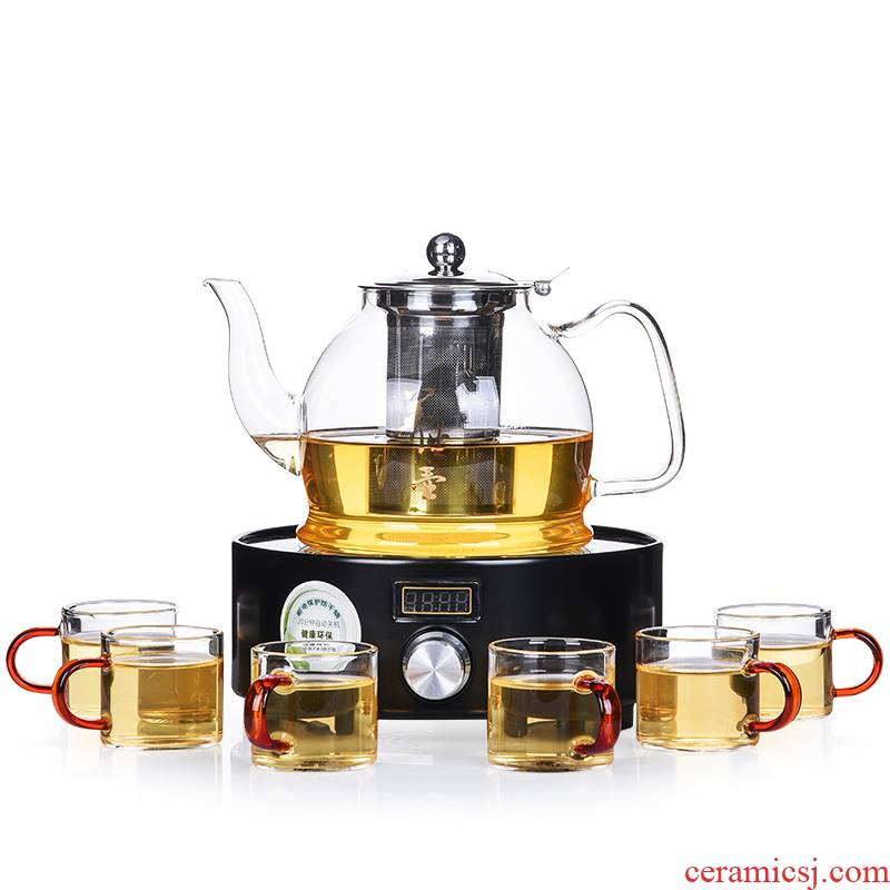 Shadow enjoy a complete set of household electric TaoLu boiled tea stove refractory glass teapot steam boiling tea, mercifully tea kettle