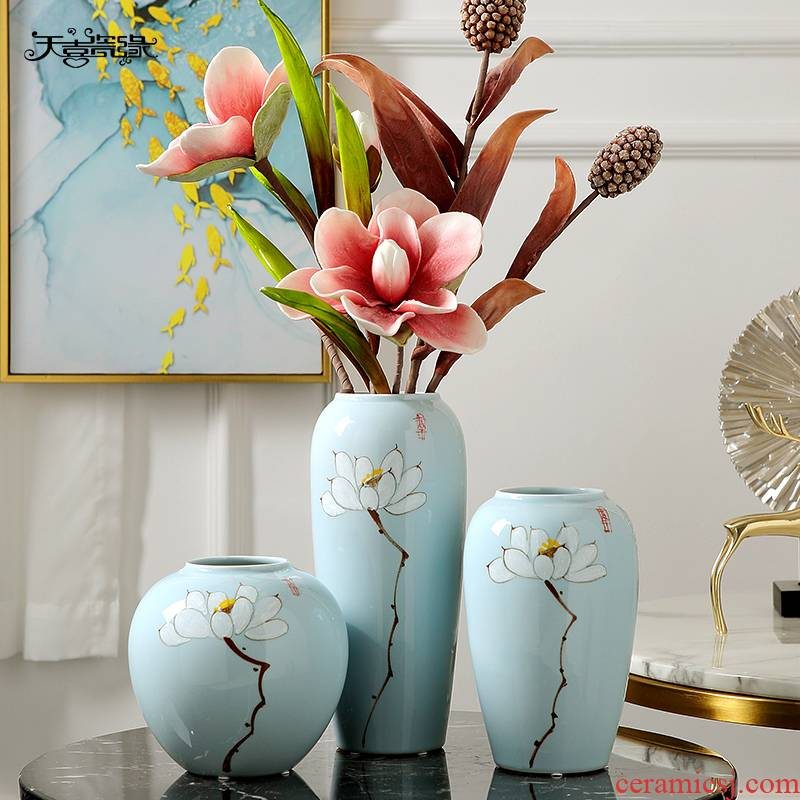 I and contracted ceramic vase dry flowers furnishing articles creative sitting room porch office table home decoration