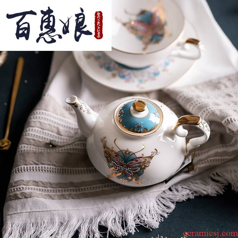 (niang high - grade ipads China tea set the teapot tea light key-2 luxury European - style device ins the wind lash pot of creative trend