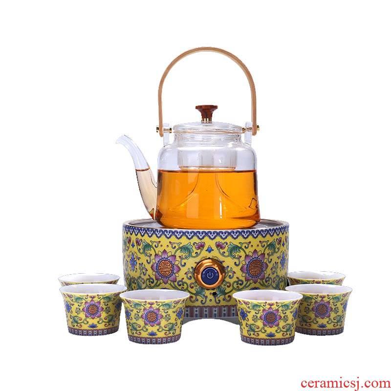 Shadow at the heat - resistant glass tea pot cooking kung fu tea set tea, black tea, the tea, the electric TaoLu household tea stove TF