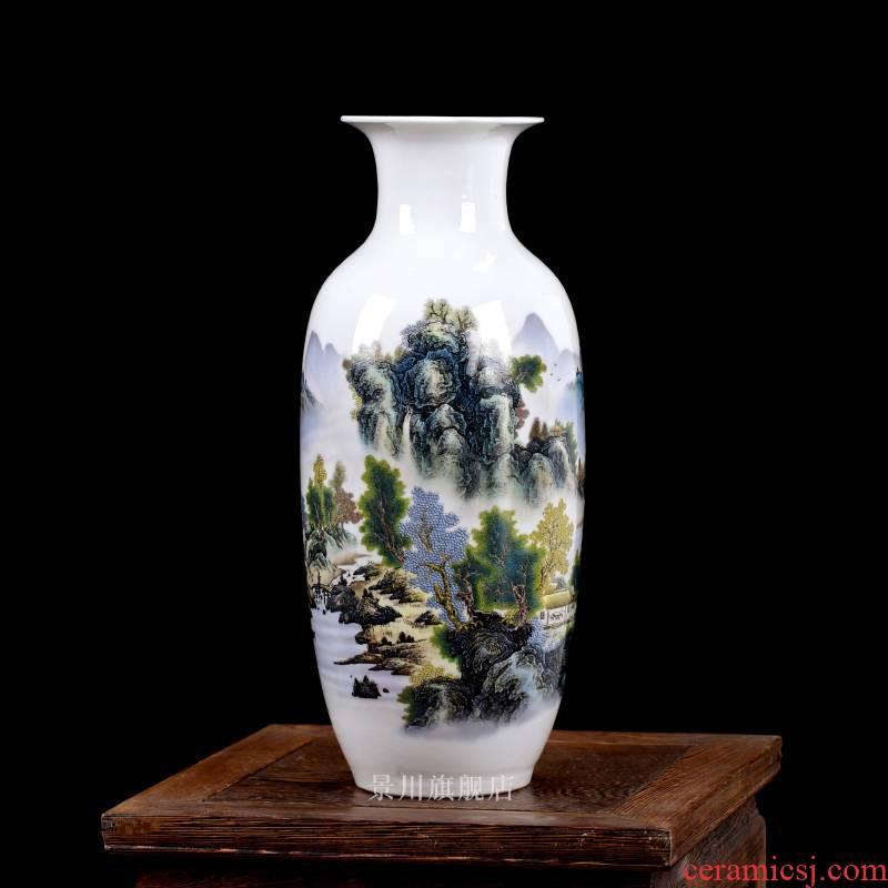 Jingdezhen ceramics floret bottle light key-2 luxury furnishing articles contracted flower, dried flower arranging flowers sitting room adornment porcelain