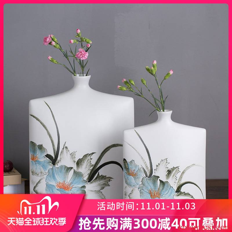 New Chinese style in modern ink painting ceramic vase furnishing articles example room porch soft adornment bedroom home sitting room tea table