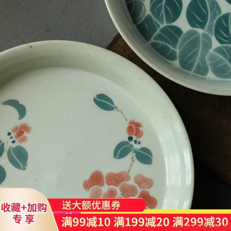Gather next scene archaize of jingdezhen glaze glaze colorful hand - drawn pot bearing restoring ancient ways household interior Chinese fruit tray was dry terms plate