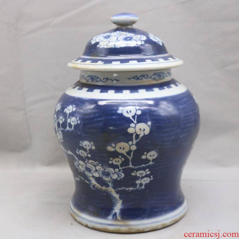 General in the the qing dynasty, jingdezhen porcelain hand - made of ice MeiWen tank antiques collectables - autograph garage antique collection furnishing articles