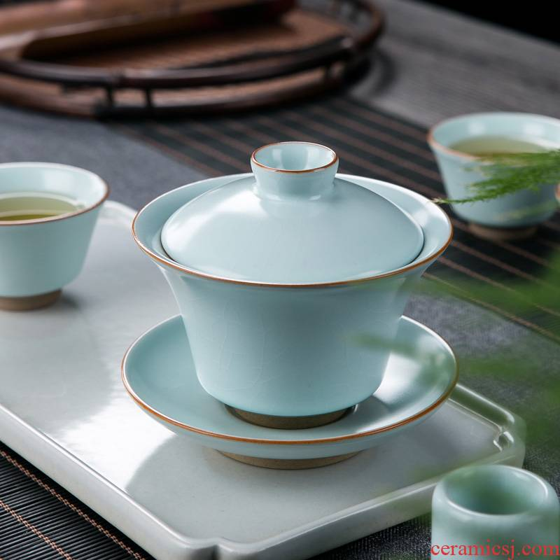 Ice to crack your up tureen single is not a hot cup of jingdezhen ceramic kung fu tea set pure manual three tea bowl