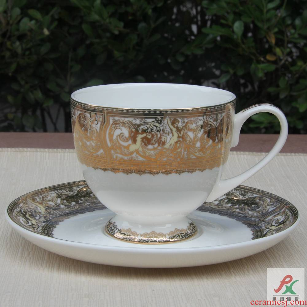 Qiao mu package mail tangshan ipads porcelain patron saint European - style coffee cups and saucers suits for wide red cup tea cup