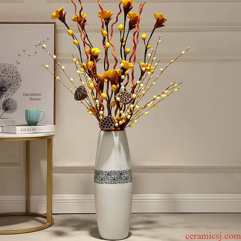 Landing simulation flower vase home sitting room European - style trumpet large ceramic flower arranging dried flower vases, creative furnishing articles