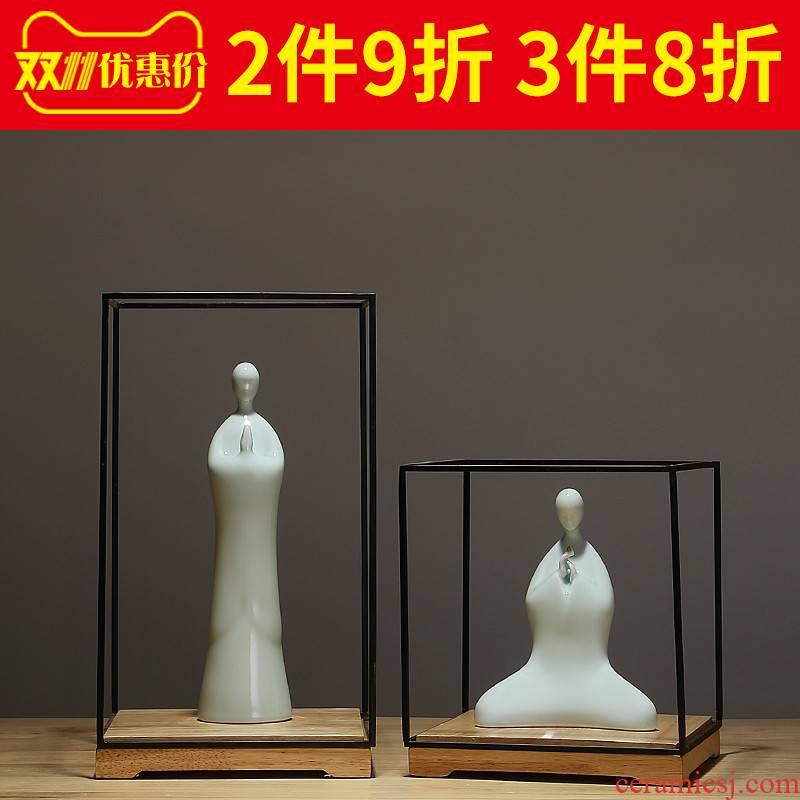 Jingdezhen ceramics for Buddha zen TV ark, porch place manual craft household study desktop decoration