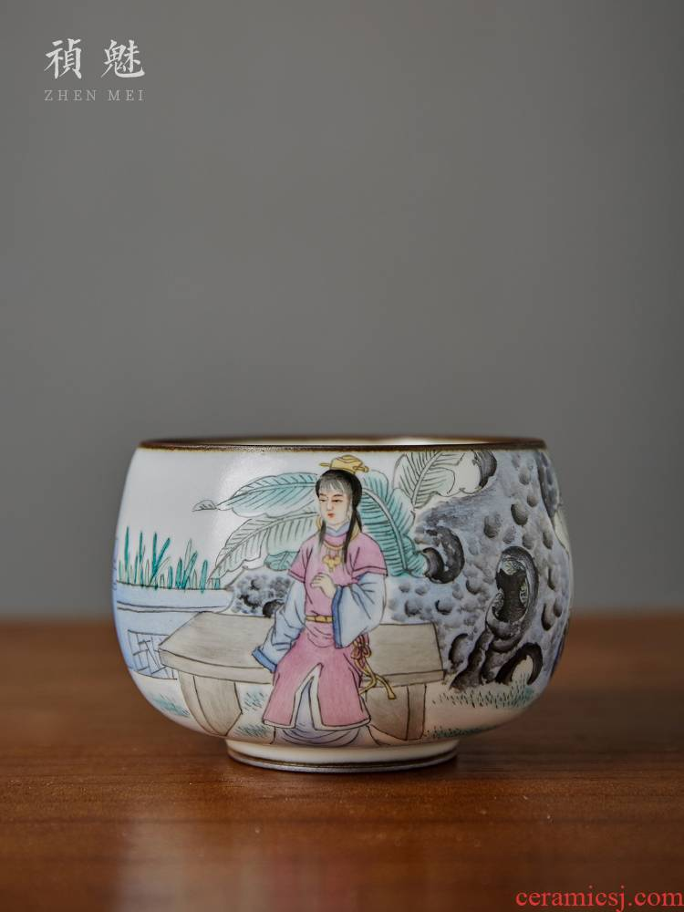 Shot incarnate your up hand - made treasure jade cup of jingdezhen ceramics single CPU slicing can raise master kung fu tea tea cup