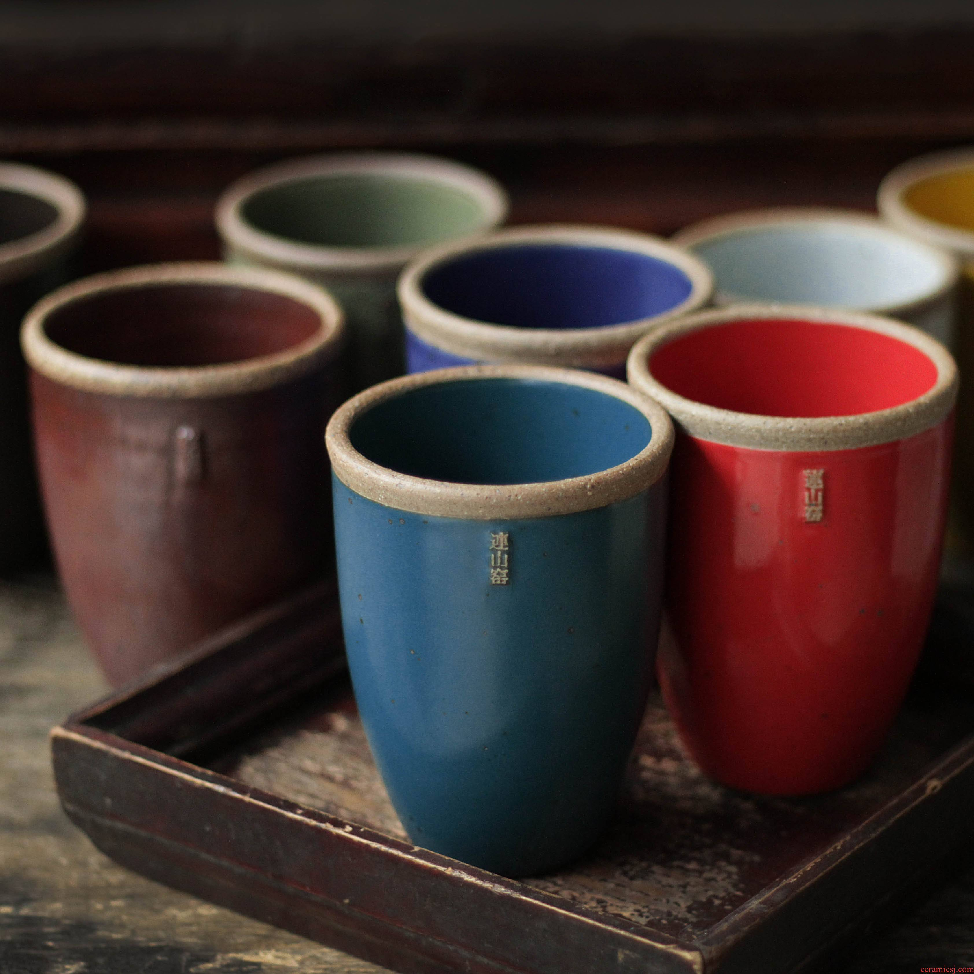 Small tank cup mini on the original coarse porcelain porcelain nostalgic ceramic drinking water health cup weng tank cup to ultimately responds water and move