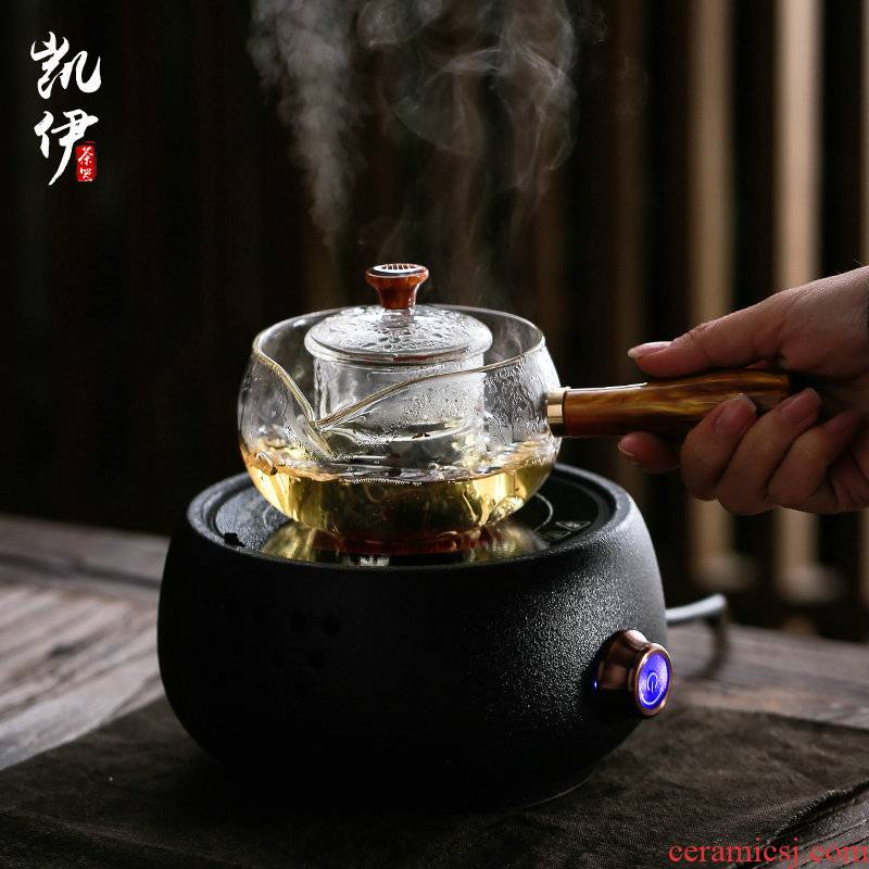 High temperature resistant glass side put the pot with thick black the boiled tea, the electric TaoLu cooking pot kung fu tea tea kettle furnace