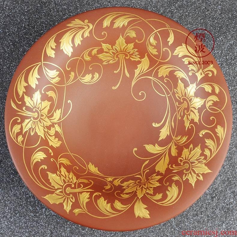 German mason mason meisen limited works Herbert, fine porcelain stoneware golden flower tendril bowl
