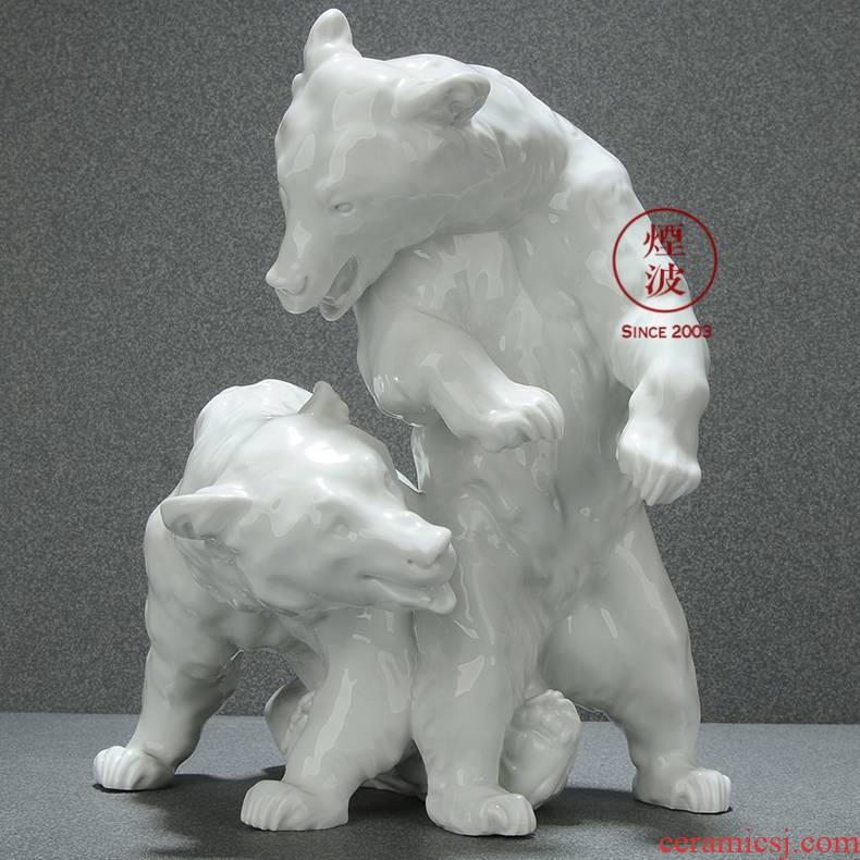German mason mason meisen porcelain porcelain animal model brown bear handicraft furnishing articles that occupy the home act the role ofing is tasted