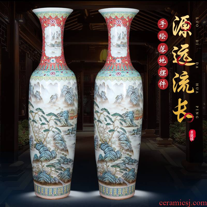 Jingdezhen hand - made ceramics of large vases, new Chinese style household large high place a super - large ornament