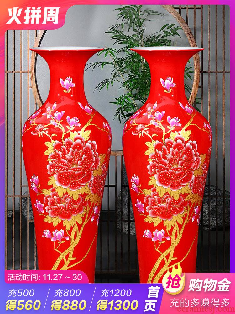 Jingdezhen ceramics demand landing a large vase of new Chinese style hotel sitting room porch housewarming gift furnishing articles