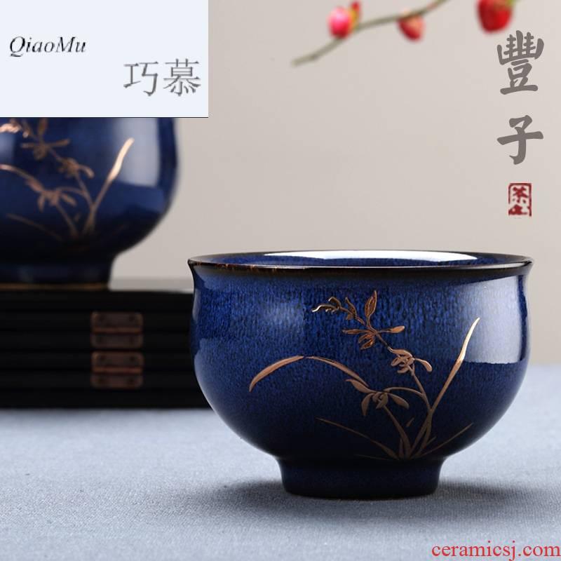 Qiao MuFengZi Taiwan ceramic individual cup single CPU master cup single household sample tea cup kung fu tea cups