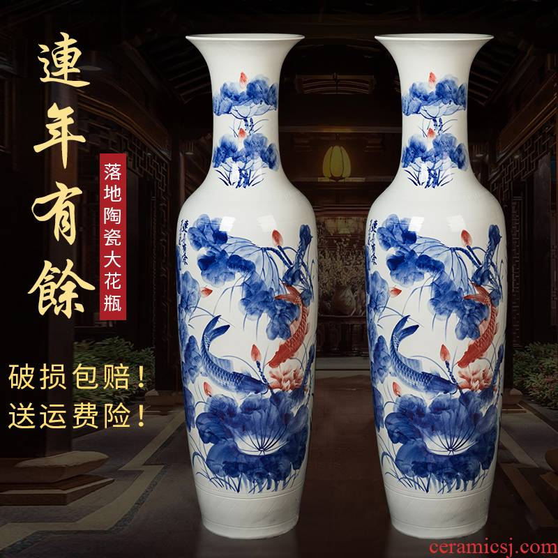 Jingdezhen ceramics extra large ground for successive years the vase opening TV ark, sitting room adornment is placed