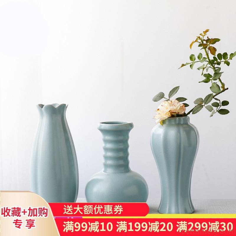The Poly real boutique scene. Your up vase creative small jingdezhen ceramic tea set dry flower zen furnishing articles ornaments
