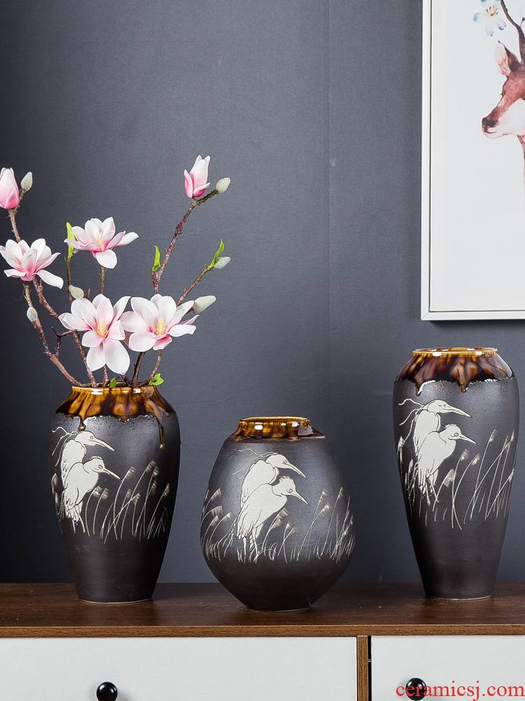 Jingdezhen ceramic manually inserted vases, I and contracted home sitting room porch table surface decoration creative furnishing articles