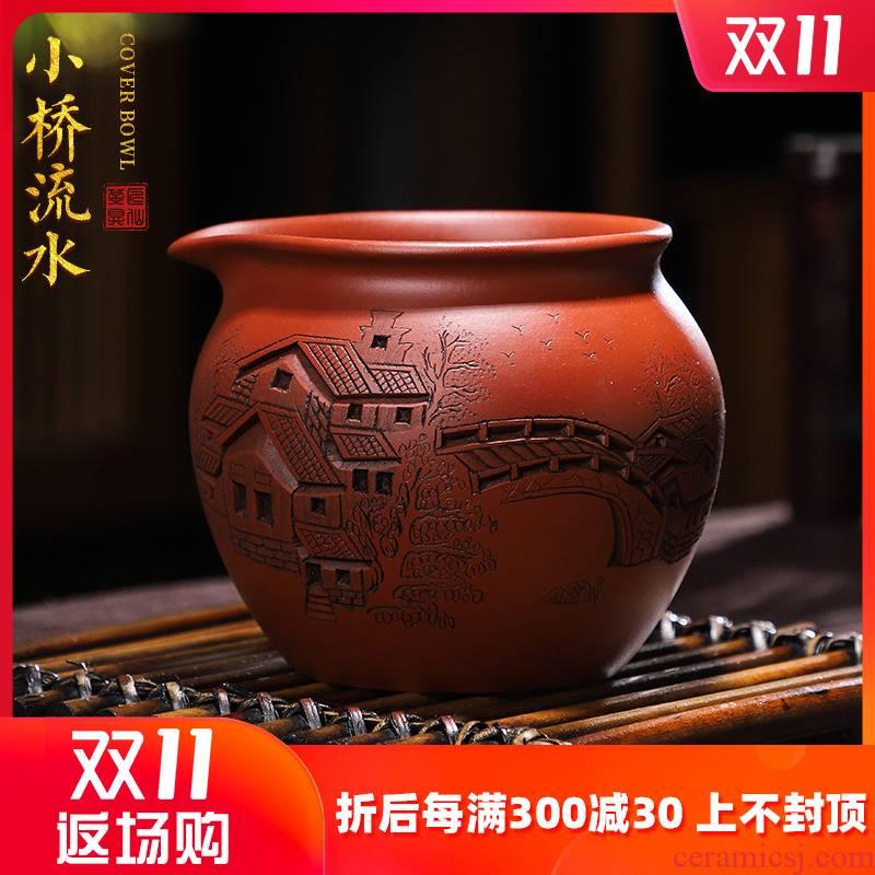 Artisan fairy Bridges violet arenaceous chick ceramic fair keller household pure manual kung fu tea tea tea sea points