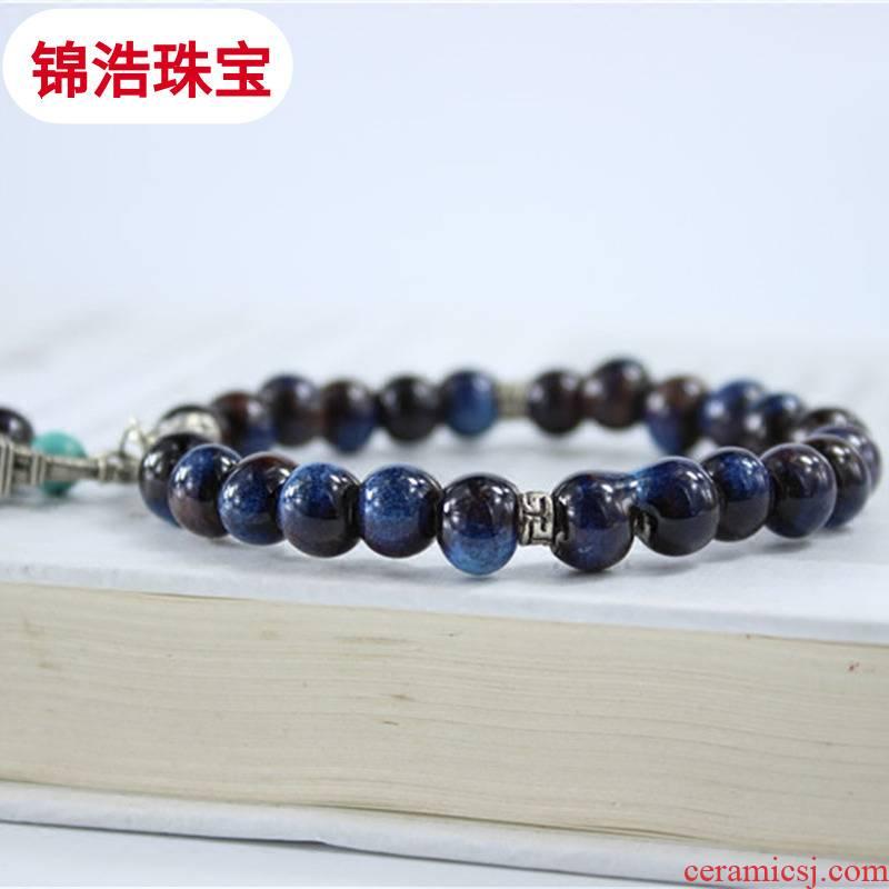Jingdezhen creative manual up ceramic beads bracelet tower literary female hand gift accessories series of jin hao