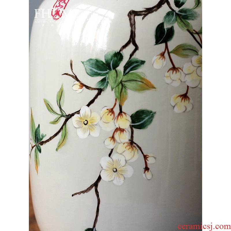 Ceramic vase furnishing articles embellish Chinese contracted home sitting room porch flower arranging flower implement large ins creative floral